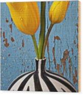 Two Yellow Tulips Wood Print