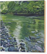 Twolick Creek Wood Print