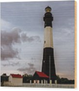 Tybee Island Lighthouse - Square Format Wood Print