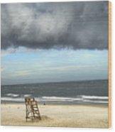 Tybee Island Storm Wood Print