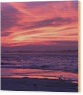 Tybee Island Sunset Wood Print