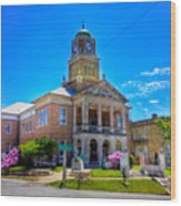 Tyler County Courthouse Wood Print