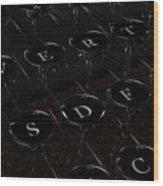 Type Wood Print
