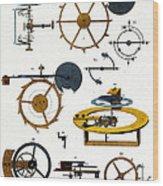 Types Of Clock Mechanism, 1810 Wood Print