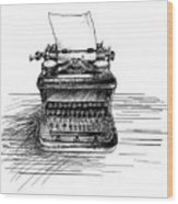 Typewriter Wood Print
