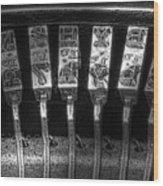 Typewriter Keys Wood Print