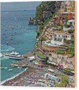 Tyrrhenian Sea Amalfi Coast Wood Print