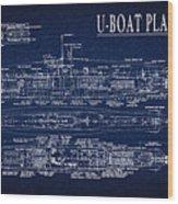 U-boat Submarine Plan Wood Print