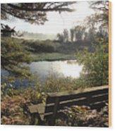 U R Here - On The Bench Wood Print