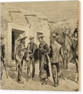 U. S. Cavalry Hunting Garza Men On The Rio Grande Wood Print