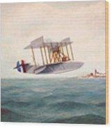 U. S. Coast Guard - Curtiss Flying Boat Wood Print