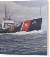 U. S. Coast Guard Buoy Tender Wood Print