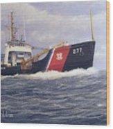 U. S. Coast Guard Buoy Tender Wood Print by William H RaVell III