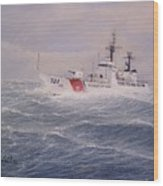 U. S. Coast Guard Cutter Gallitin Wood Print by William H RaVell III