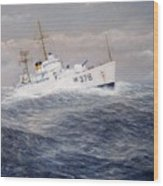 U. S. Coast Guard Cutter Halfmoon Wood Print