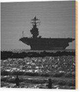 U S S Harry S Truman Cvn75 Wood Print