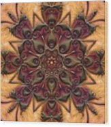 u046-b Quartetweaks Of An 8-Petaled Mandalwork 2 Wood Print
