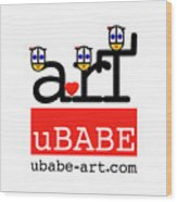 uBABE Art Wave Wood Print