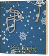 Ucla Bruins Christmas Card Wood Print