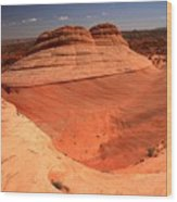 Ufo In Coyote Buttes Wood Print