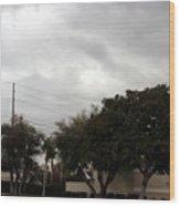 Ufo Over My Neighborhood  Wood Print