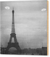 Ufo: Paris Wood Print