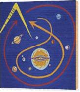 Ufo Universe Wood Print