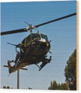 Uh-1 Huey Arrival Wood Print
