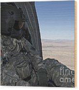 Uh-60 Black Hawk Crew Chief Takes Wood Print