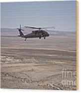 Uh-60 Black Hawk En Route To New Mexico Wood Print