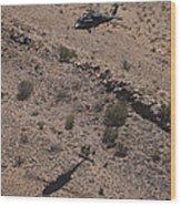 Uh-60 Black Hawk Hovers Above U.s Wood Print
