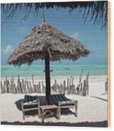 Uhuru Beach Lodge Zanzibar - Notkak Wood Print