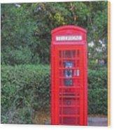 U.k. Phone Booth Wood Print