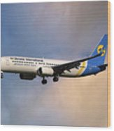 Ukraine International Airlines Boeing 737-8eh Wood Print