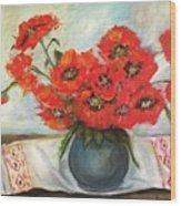 Ukrainian Poppies Wood Print