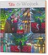 Ula And Wojtek Engagement 4 Wood Print