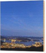 Ulsteinvik By Night Wood Print