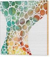 Ultra Modern Art - Colorforms 2 - Sharon Cummings Wood Print