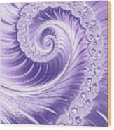 Ultra Violet Luxe Spiral Wood Print