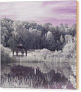 Ultraviolet Gazebo Wood Print