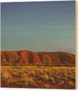 Uluru/ayers Rock Wood Print