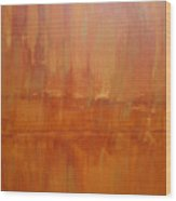 Umber Abyss Wood Print