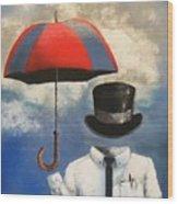 Umbrella Wood Print by Crispin  Delgado