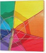 Umbrella In Sunlight Wood Print