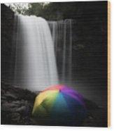 Umbrella Wood Print