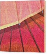 Umbrella Sunrise Wood Print