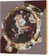 Umbria Florals Timepiece Wood Print