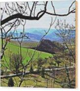 Umbria Mountains Wood Print