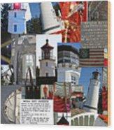 Umpqua River Lighthouse Collection Wood Print