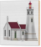 Umpqua River Lighthouse  In Oregon Wood Print